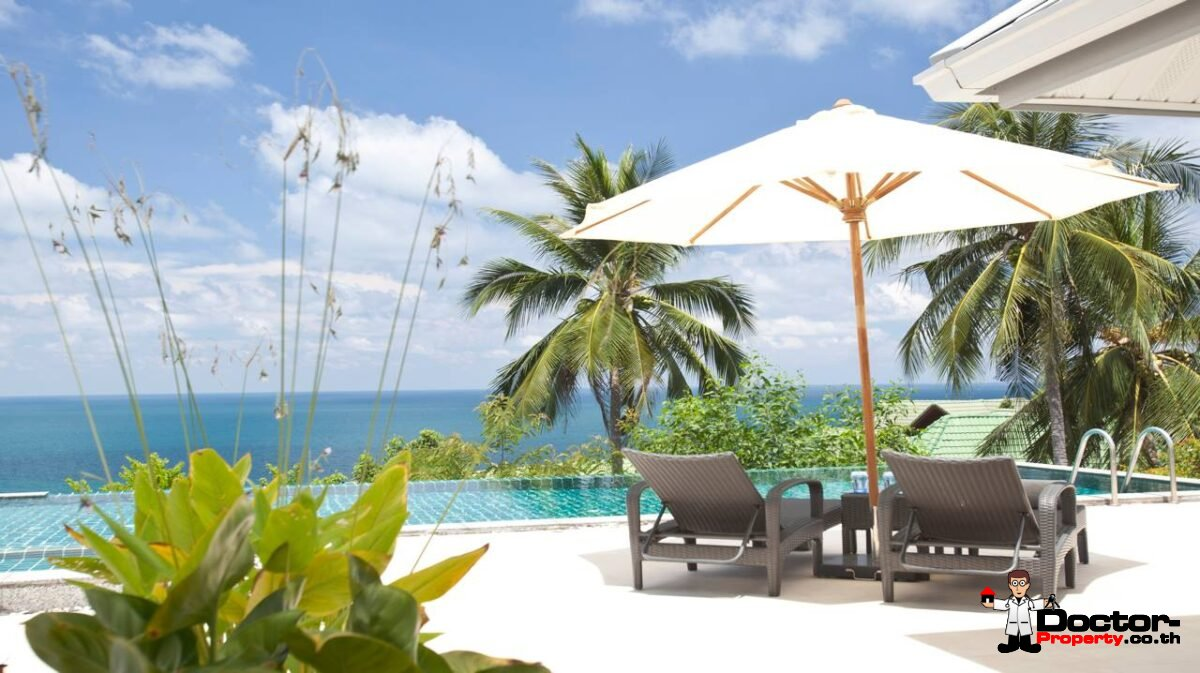 A 4 Bedroom Pool Villa with Stunning Seaview - Chaweng Noi, Koh Samui - For Sale