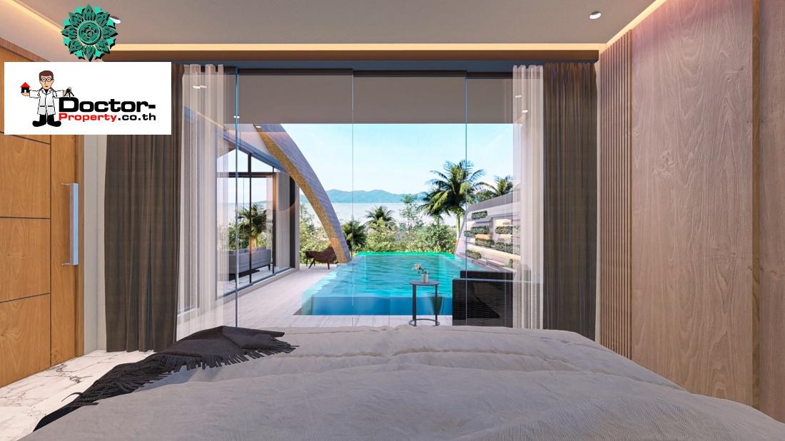 New 3 Bedroom Sea View Villa - Bang Por - Koh Samui - for sale