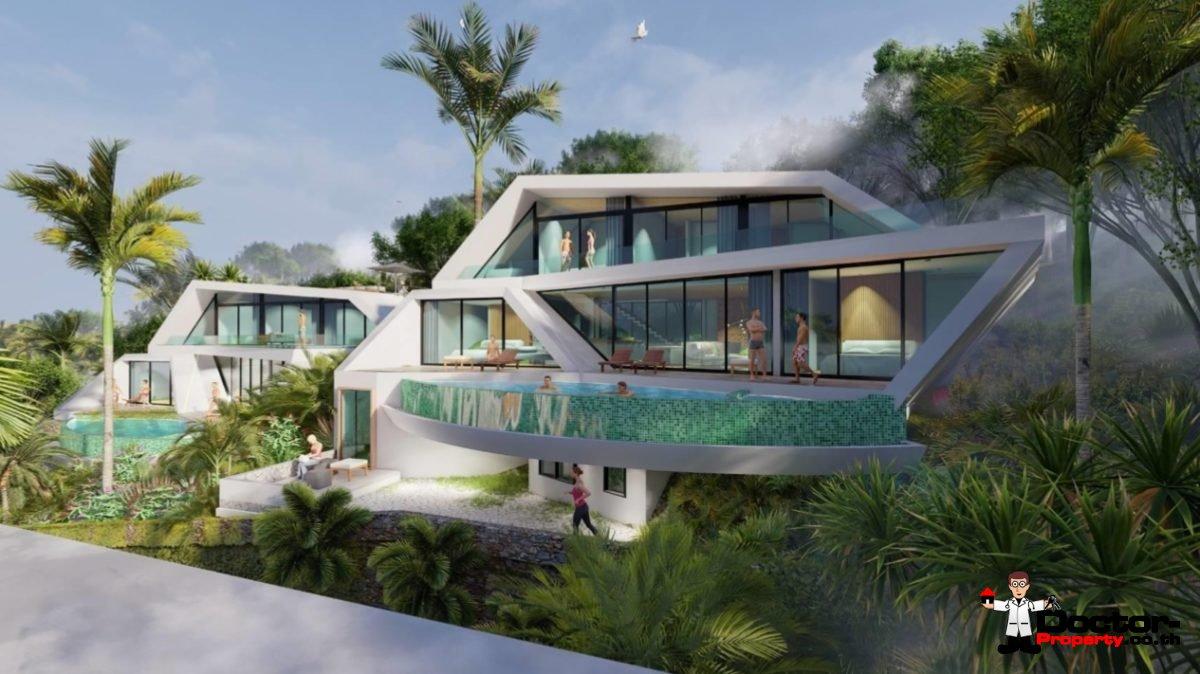 New 4 Bedroom Sea View Villa - Bophut - Koh Samui - for sale