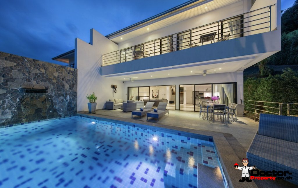Privat 3 Bedroom Sea View Villa - Chaweng Noi - Koh Samui - for sale