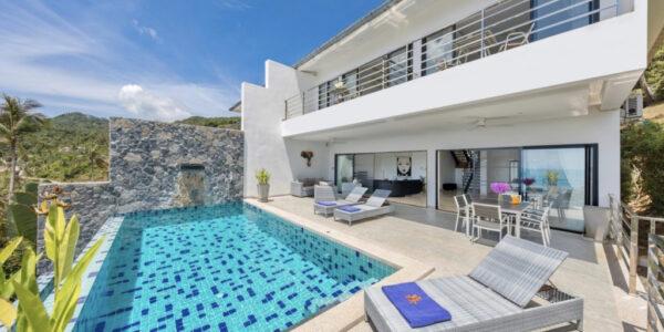 Privat 3 Bedroom Sea View Villa - Chaweng Noi - Koh Samui - for sale