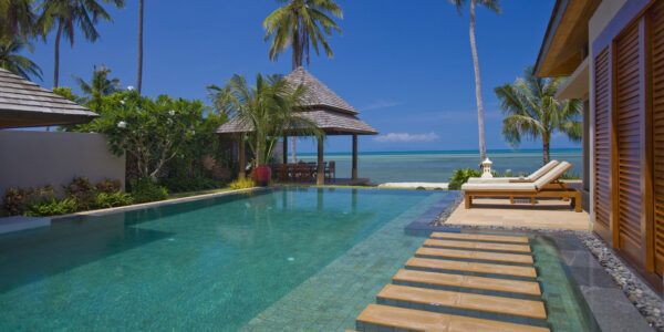 5 Bedroom Beachfront Pool Villa – Nathon, Koh Samui – For Sale