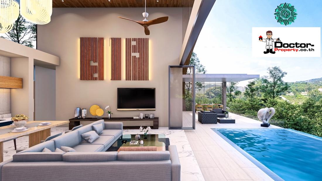 Stunning 3 Bedroom Sea View Villa – Bang Por – Koh Samui – for sale