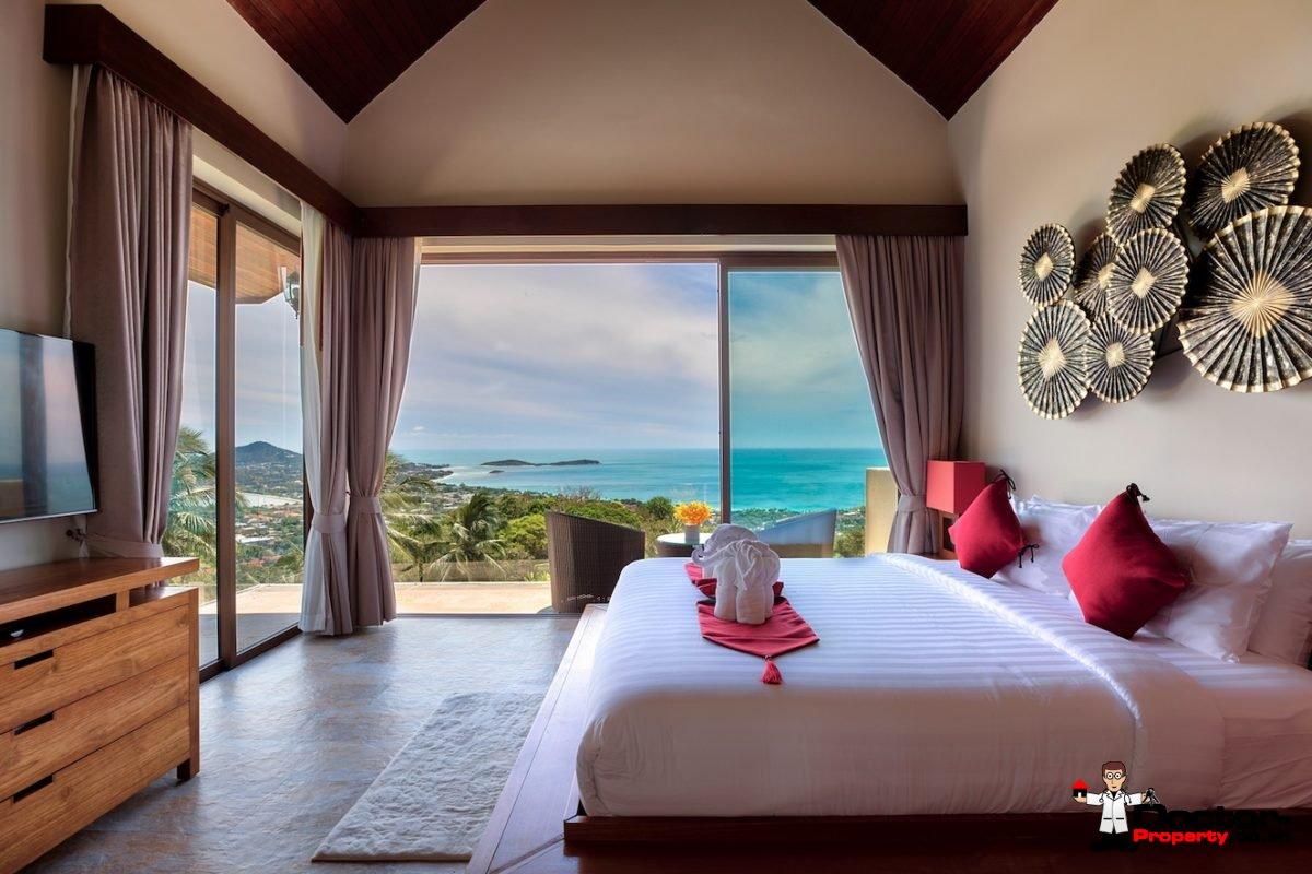Fantastic 4 Bedroom Sea View Villa - Chaweng - Koh Samui - for sale