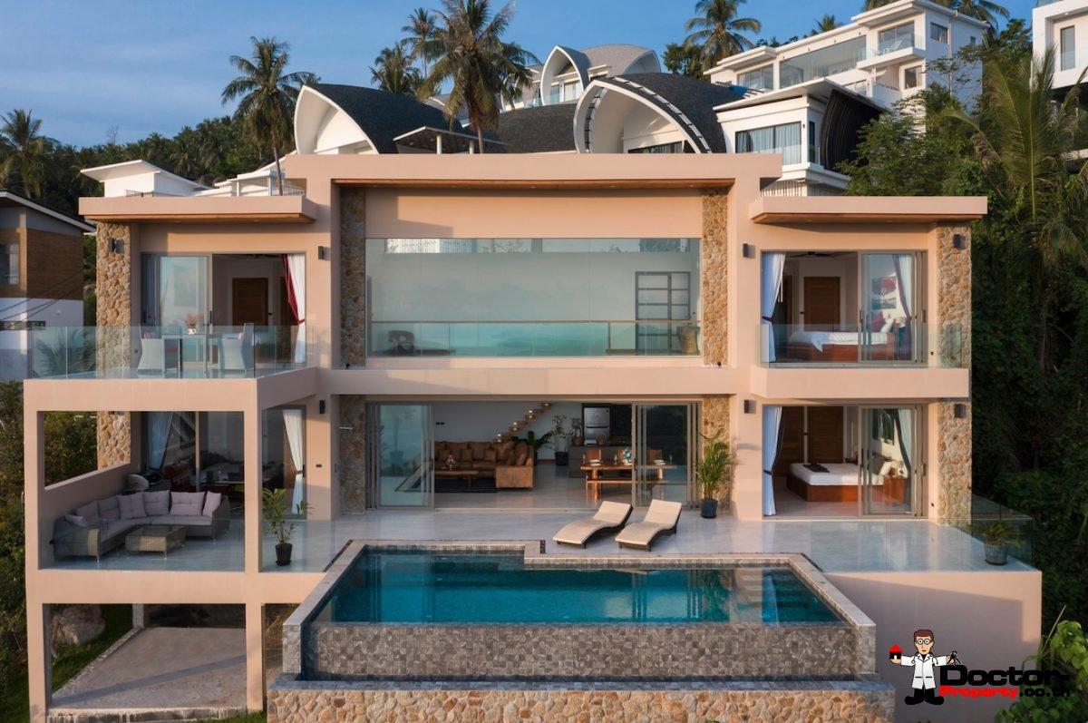 Fantastic 4 Bedroom Sea View Villa – Lamai – Koh Samui – for sale
