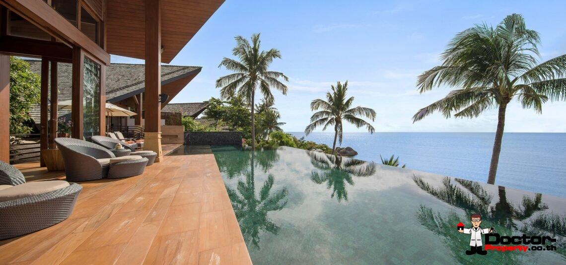 High End Luxury 5 Bedroom Beachfront Villa - Lamai Beach - Koh Samui - for sale