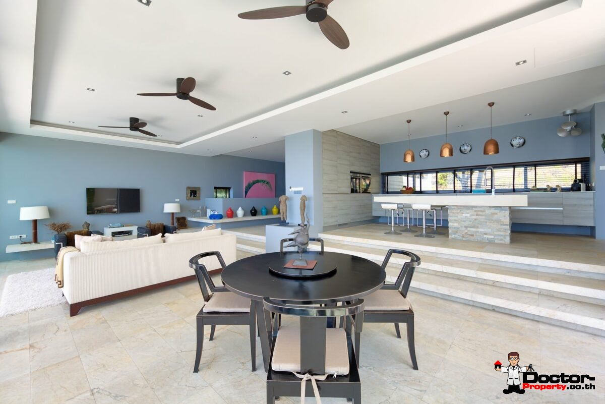 Modern 4 Bed Villa with Stunning Views in Private Estate – Choeng Mon, Koh Samui – For Sale