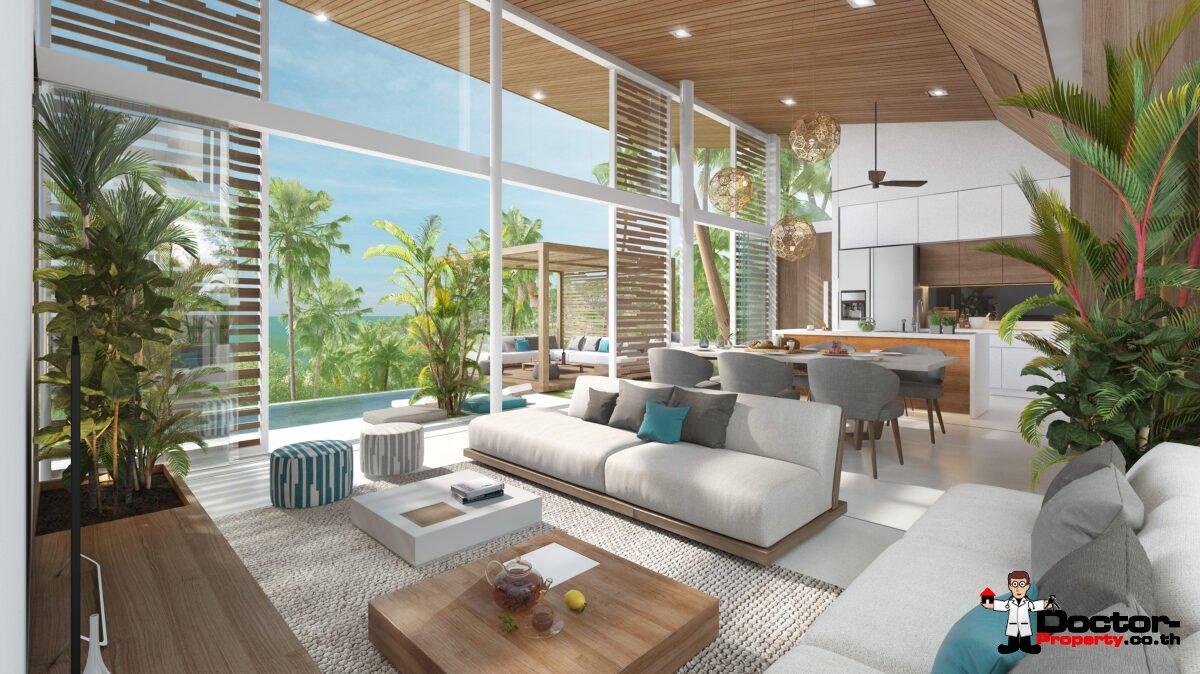 New Furnished 3 Bedroom Pool Villa – Bang Por, Koh Samui – For Sale