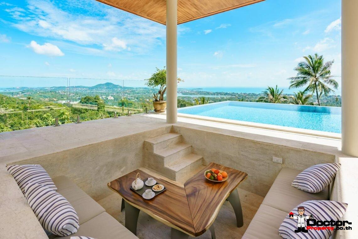 Sea View - 4 Bedroom Villa - Chaweng - Koh Samui - for sale