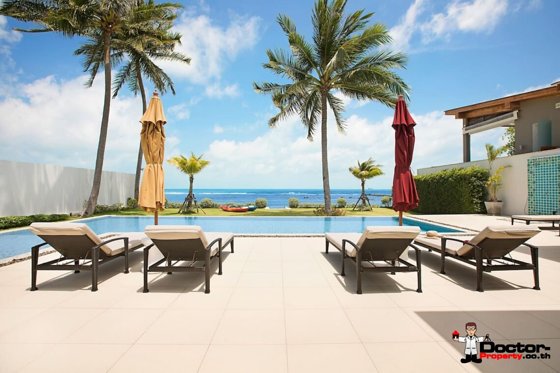 Luxury Beachfront 4 Bedroom Pool Villa – Laem Sor, Koh Samui – For Sale