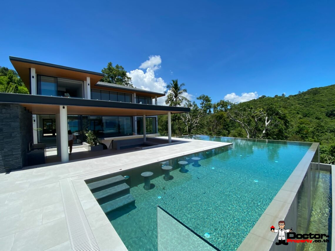 Fantastic 4+2 Bedroom Sea View Villa – Bang Rak – Koh Samui – for sale