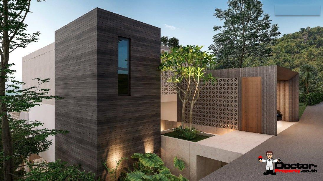 New 3 Bedroom Sea View Villa – Bang Por – Koh Samui – for sale
