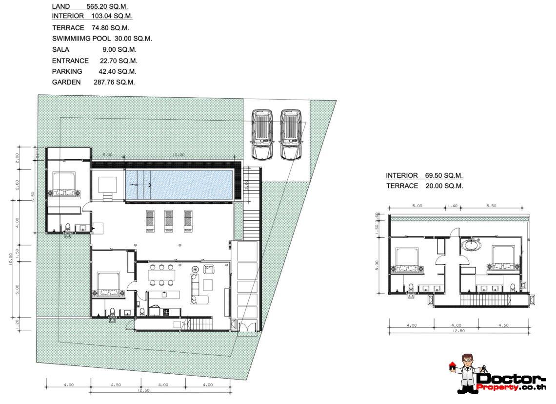 New 3-4 Bedroom Seaview Villas – Bophut, Koh Samui – For Sale