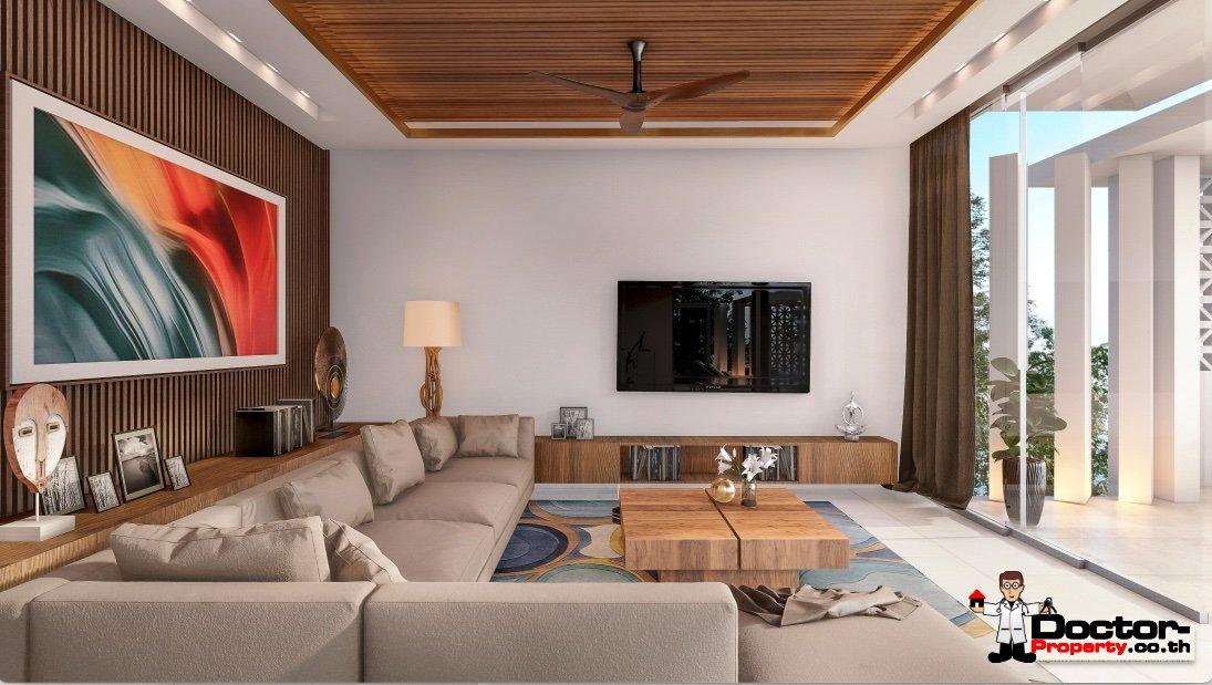 Stunning New 3 Bedroom Sea View Villa – Bang Por – Koh Samui – for sale
