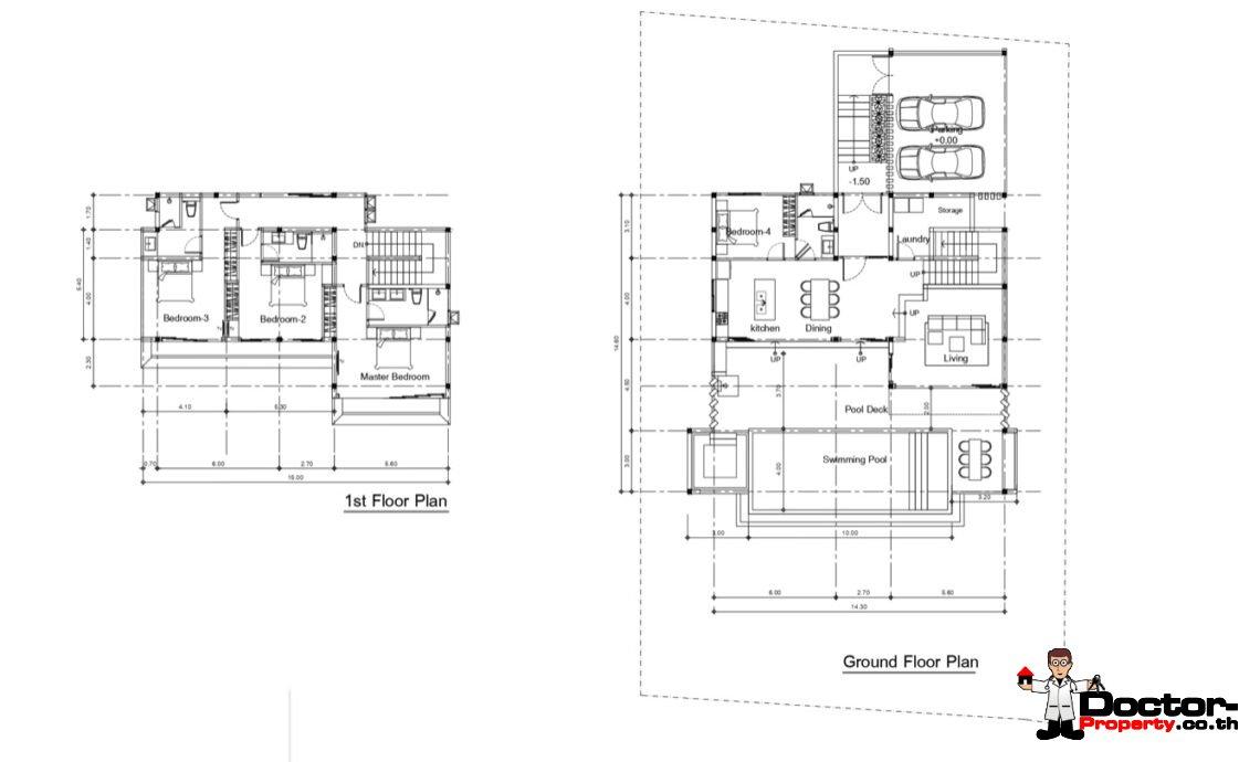 New 4 Bedroom Sea View Villa – Bang Por – Koh Samui – for sale