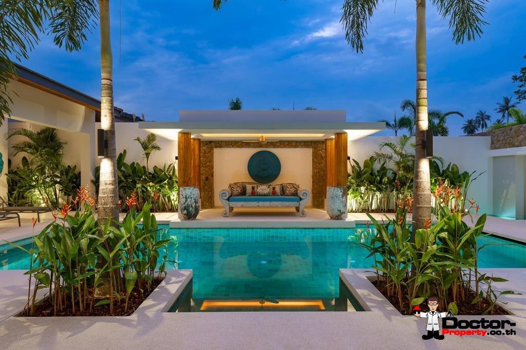 Balinese Style 3 Bed Villa near Golf Course – Mae Nam, Koh Samui – For Sale
