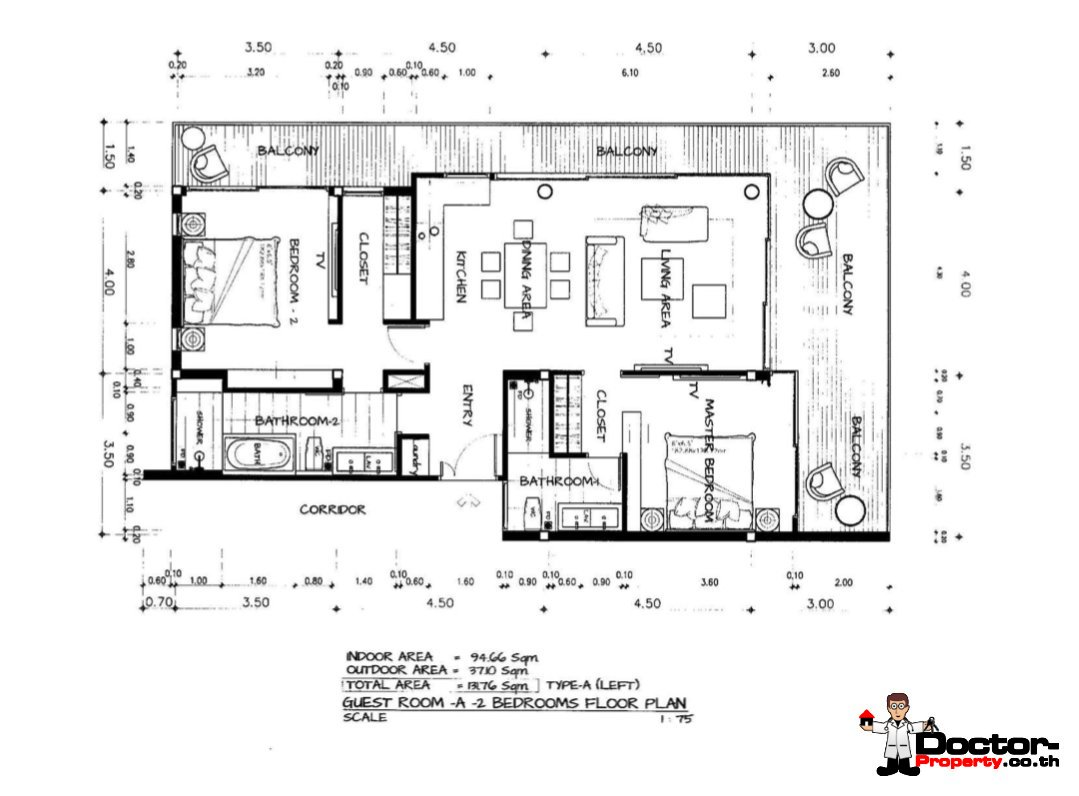 Resale New 2 Bedroom Apartment with Sea View – Bang Por – Koh Samui