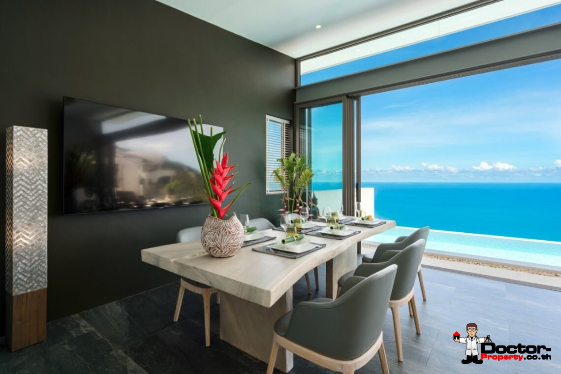 Stunning New 4 Bedroom Sea View Villa – Chaweng Noi – Koh Samui – for sale